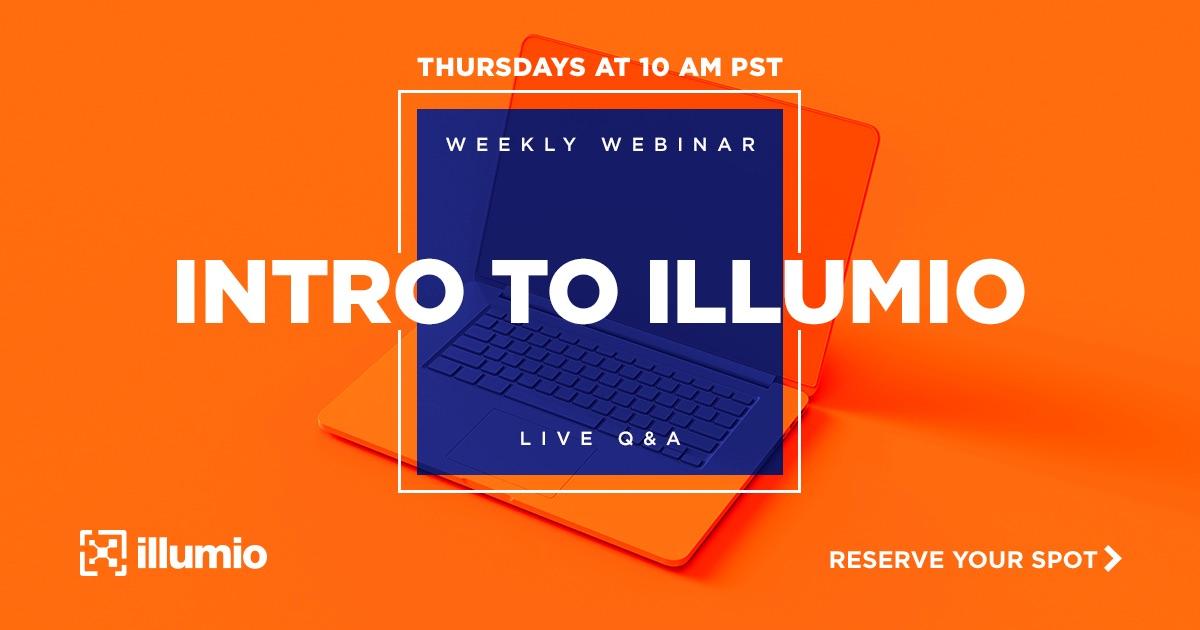 Illumio weekly webinar social graphic